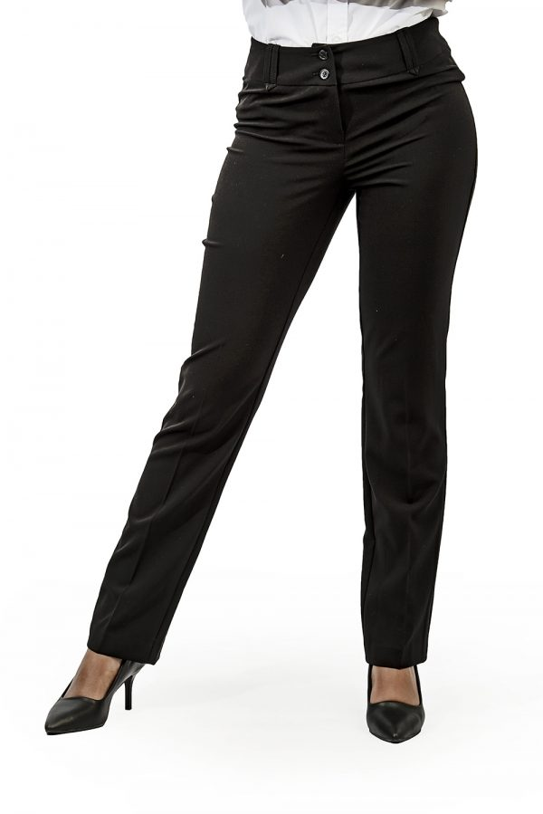 Ladies straight leg pants black