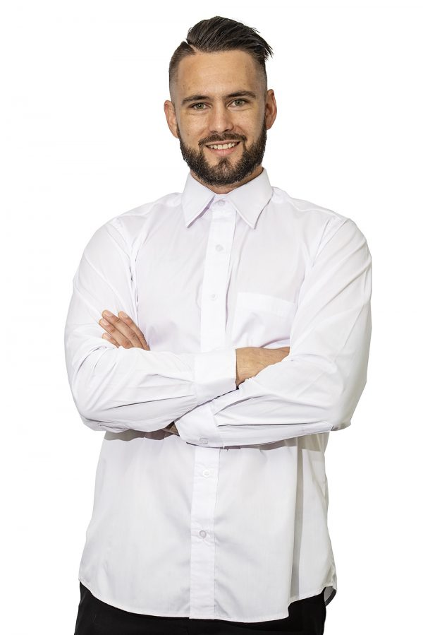 Mens formal shirt white front