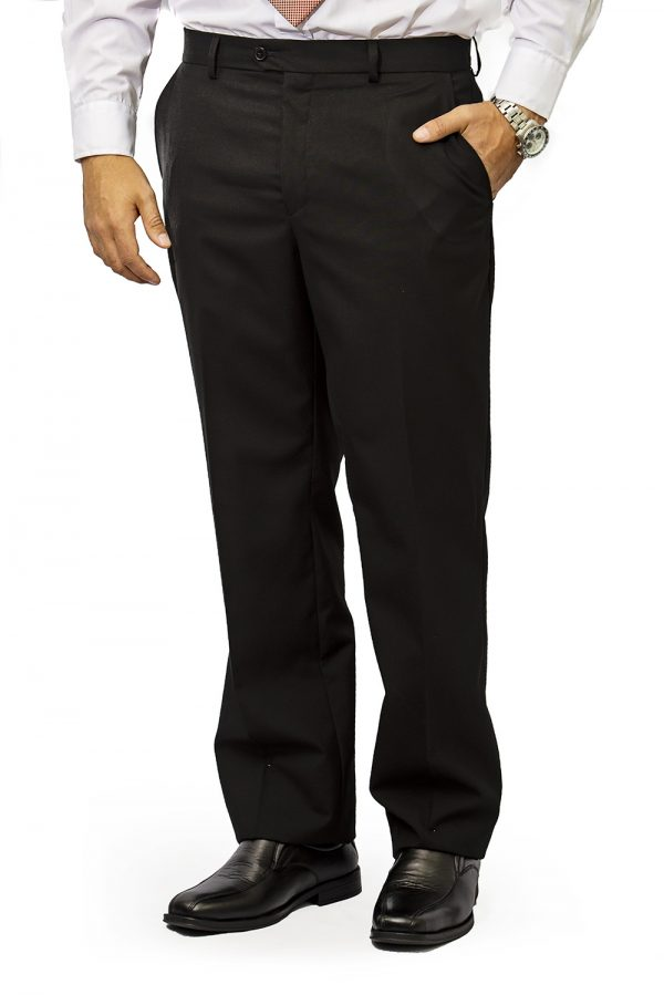 Mens trouser slim fit black