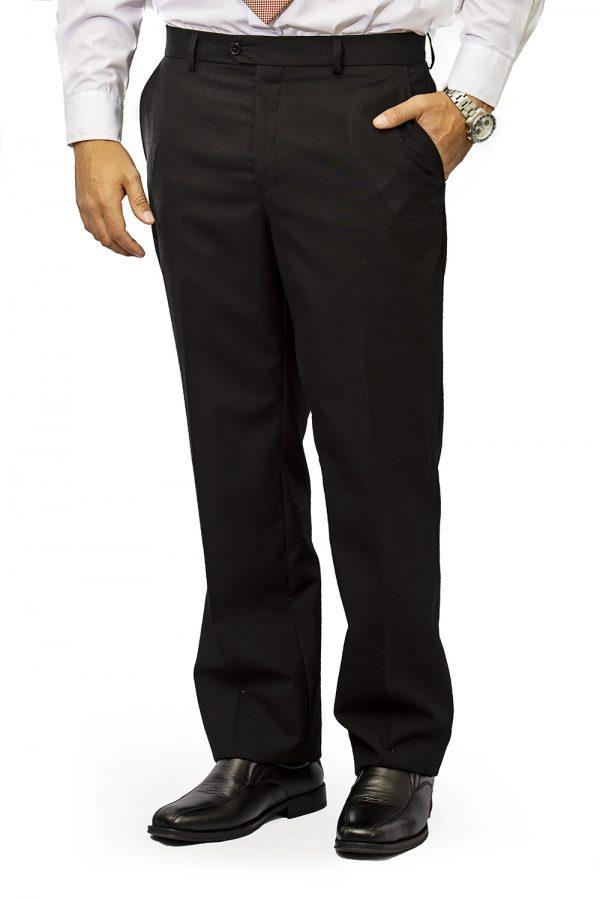 Mens trouser slim fit black
