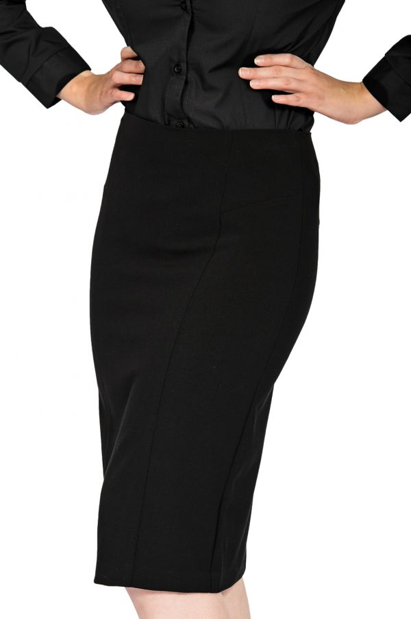 ladies pencil skirt black front