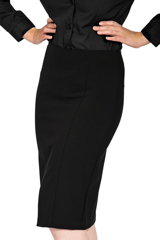 ladies pencil skirt black front