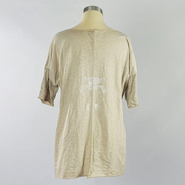 Cotton Viscose Top Metallic Print Stone Back