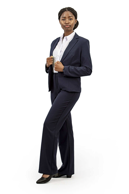 Ladies corporate jacket full suit navy