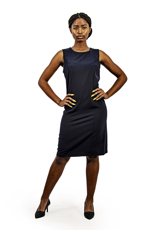 Ladies corporate shift dress Navy