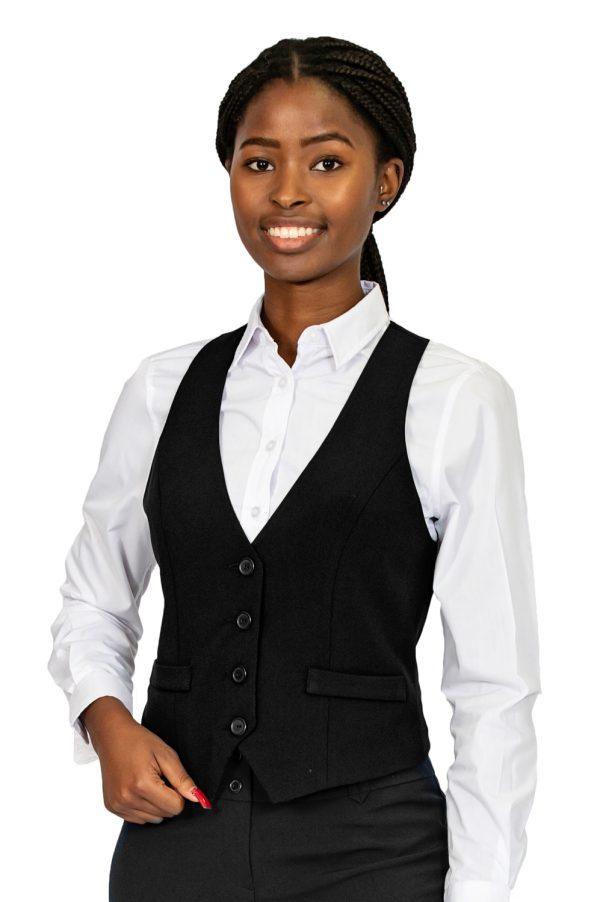 ladies waistcoat black front