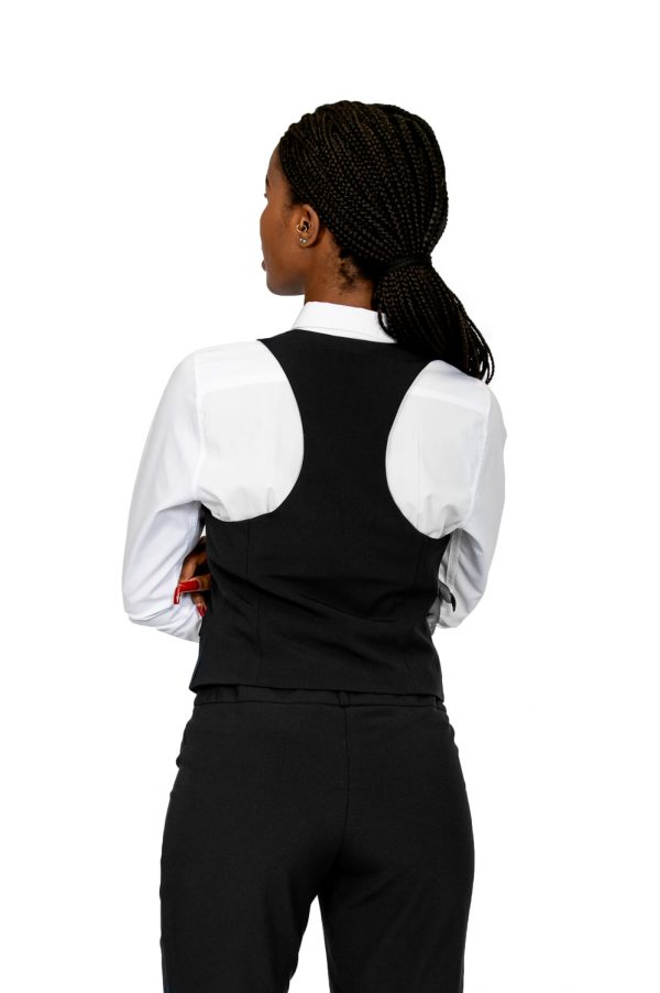 ladies waistcoat black back