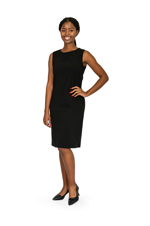 Shift Sleeveless Stretch Dress black front