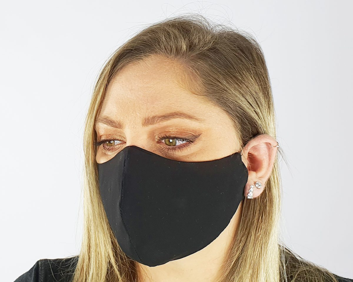 Premium cotton 4 layer black mask