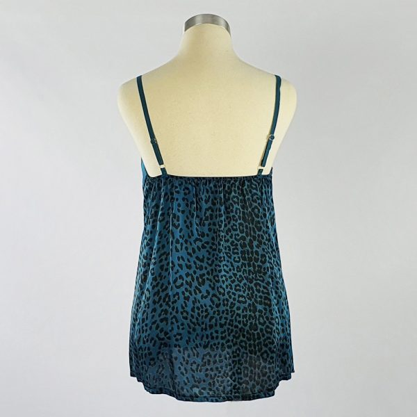 Animal Print Crepe Cami Blue Back