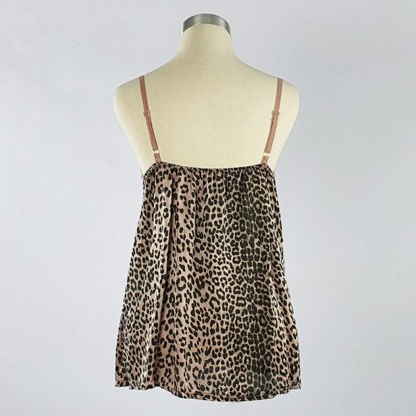 Animal Print Crepe Cami