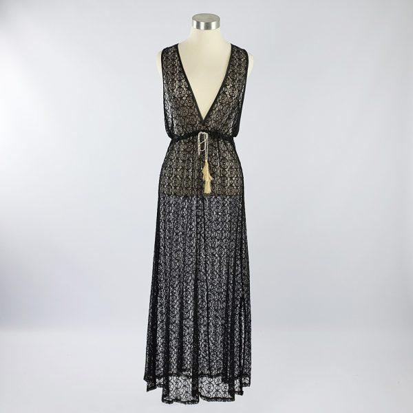 Lace Over Dress Black