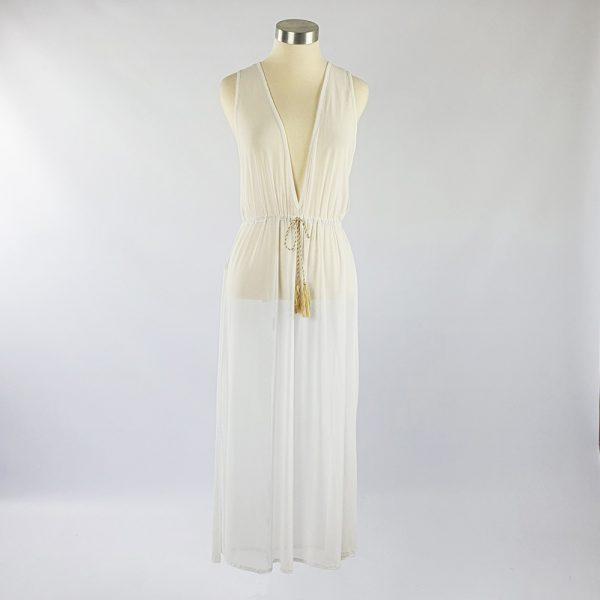 Mesh Over Dress White