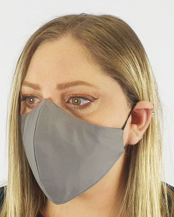 Premium cotton 4 layer grey mask