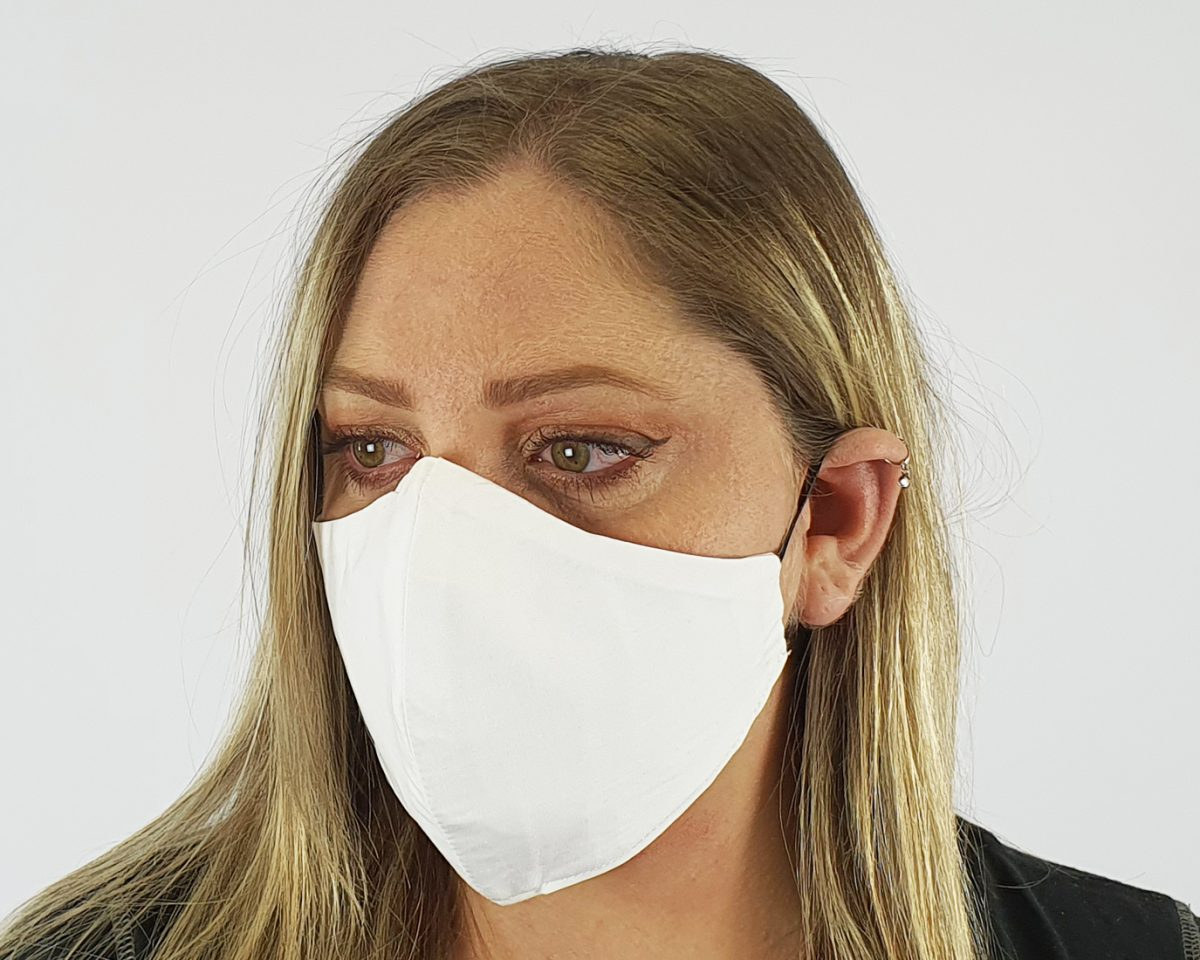 Premium cotton 4 layer white mask