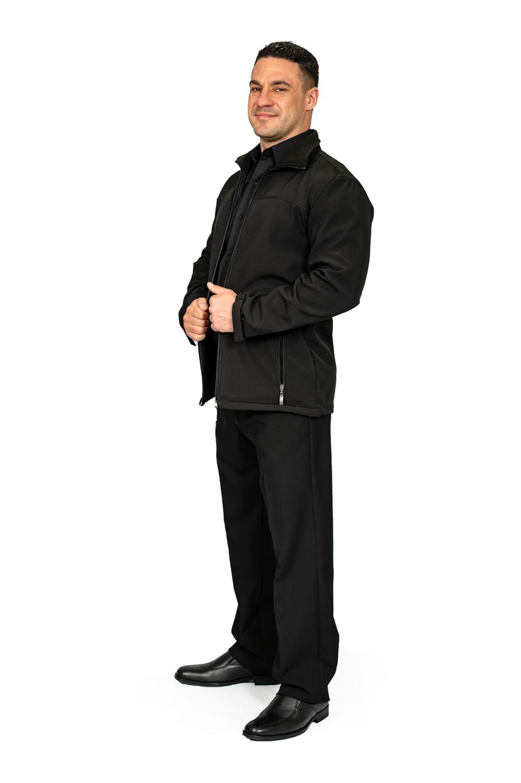 Unisex long sleeve softshell jacket black side