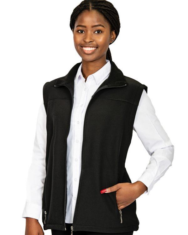 Unisex sleeveless softshell jacket black