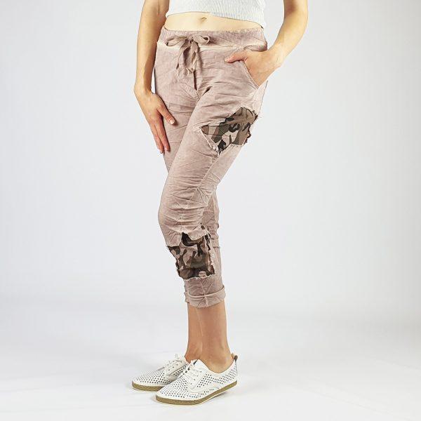 Cotton Elastine Star Camo Pants Pink
