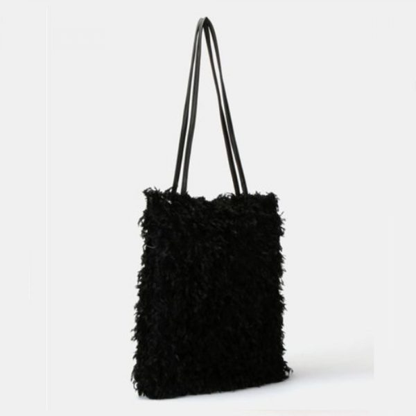 Fur Handbag Black