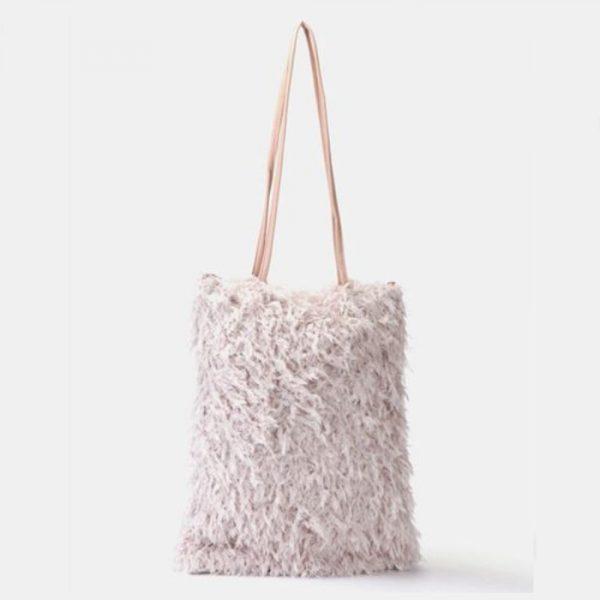 Fur Handbag Lilac