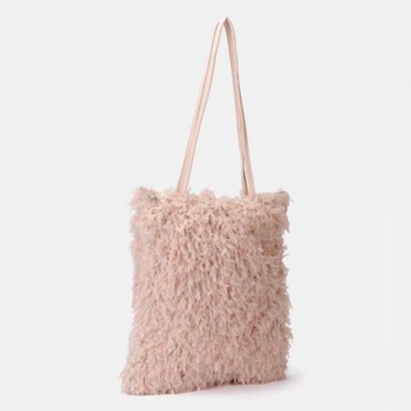 Fur Handbag Pink