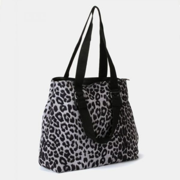 Animal Print Handbag Grey