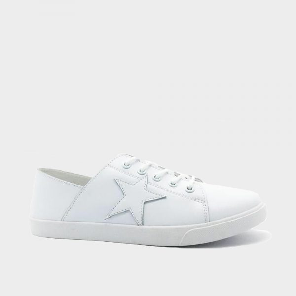 Comfort Leather Star Sneaker White