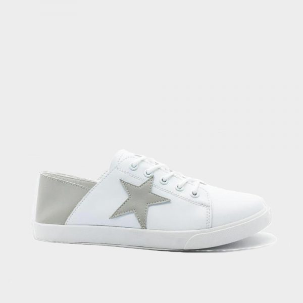 Comfort Leather Star Sneaker White/Grey