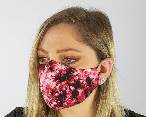 4 Layer 2 Pack Reusable Face Mask Red
