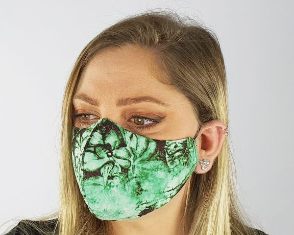 4 Layer 2 Pack Reusable Face Mask Green