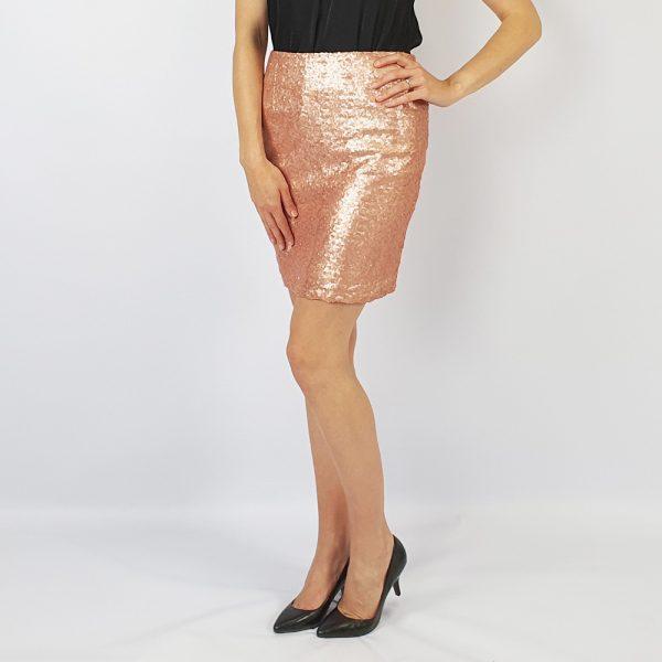 Short sequin skirt pink