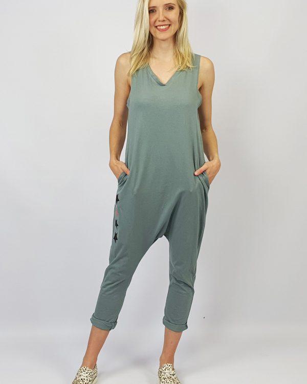 Harem Jumpsuit grey front