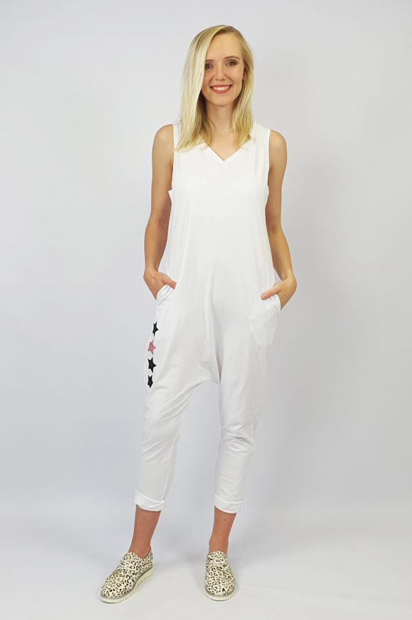 Harem Jumpsuit white front