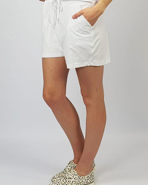 Track Shorts white side