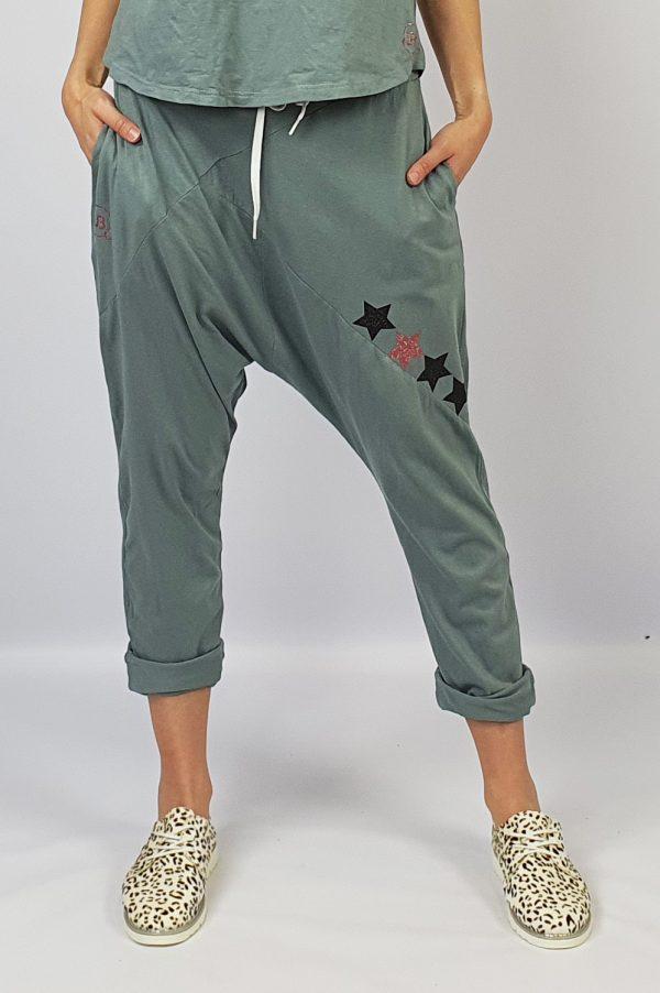 Harem Pants grey front