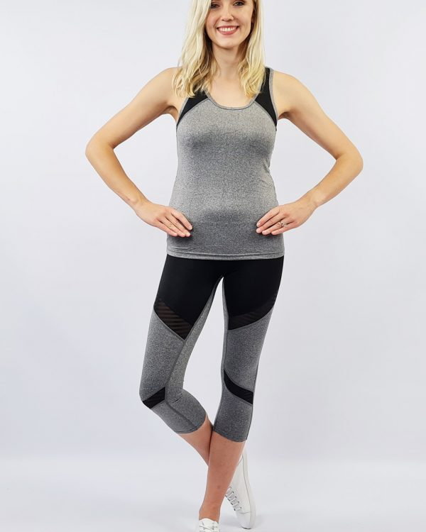 Active Wear Medium Length Set - Grey/Black