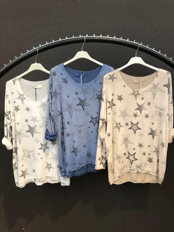 Stars Knit Top