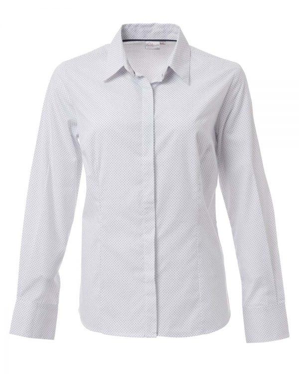 Ladies Cullinan Long Sleeve Blouse White