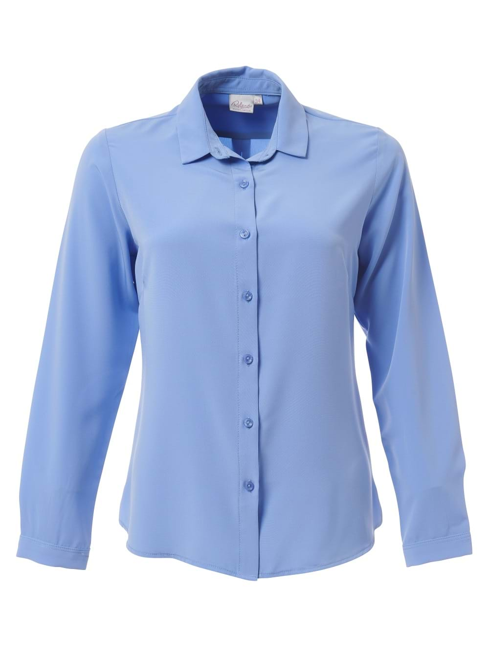 Ladies Georgia Long Sleeve Blouse Cornflower Blue