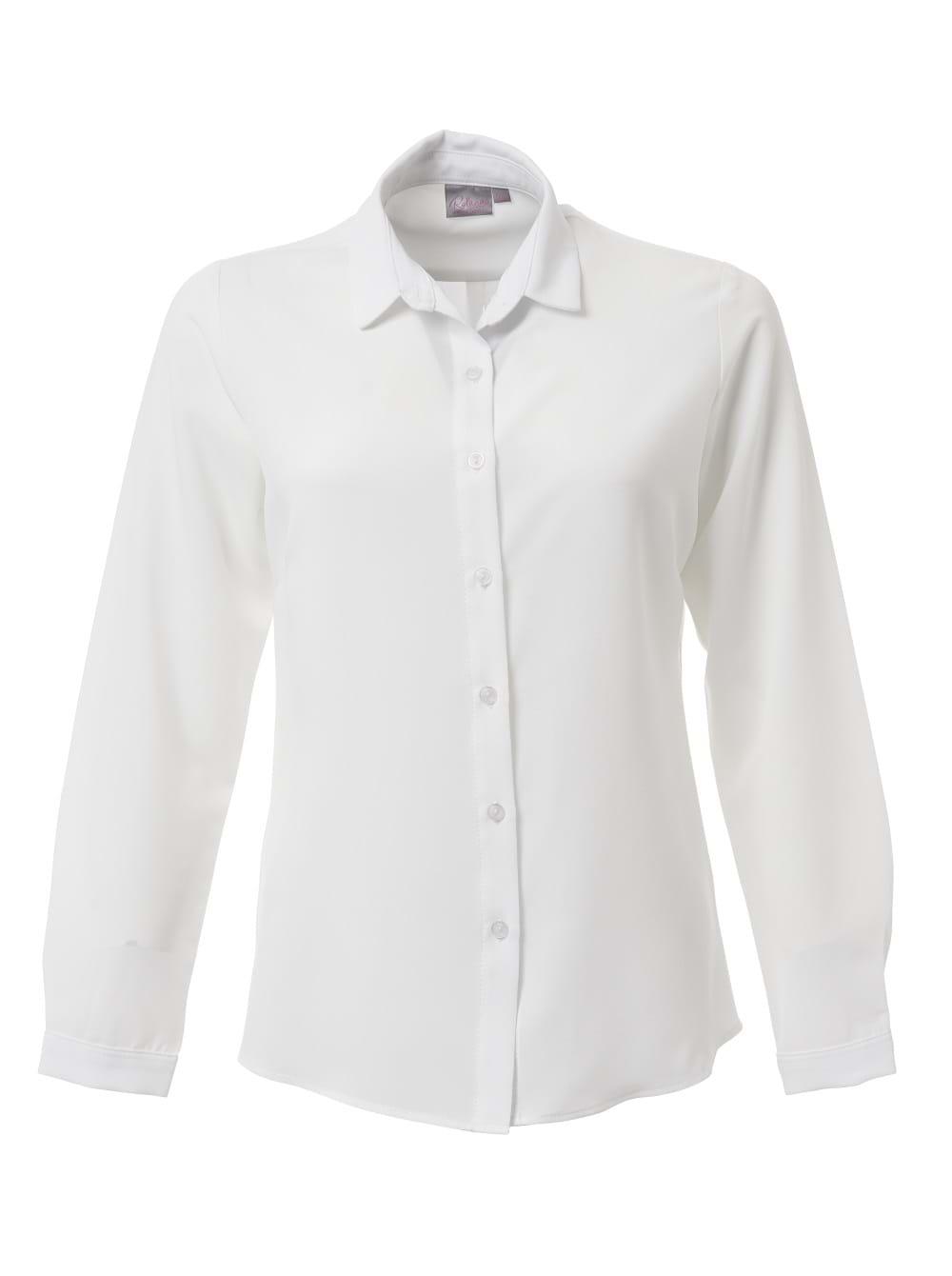 Ladies Georgia Long Sleeve Blouse Pearl