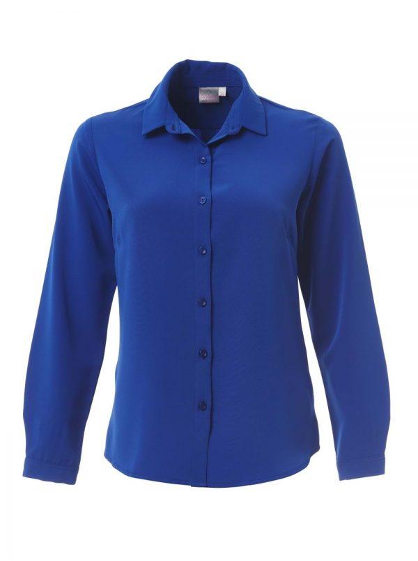 Ladies Georgia Long Sleeve Blouse Sapphire Blue