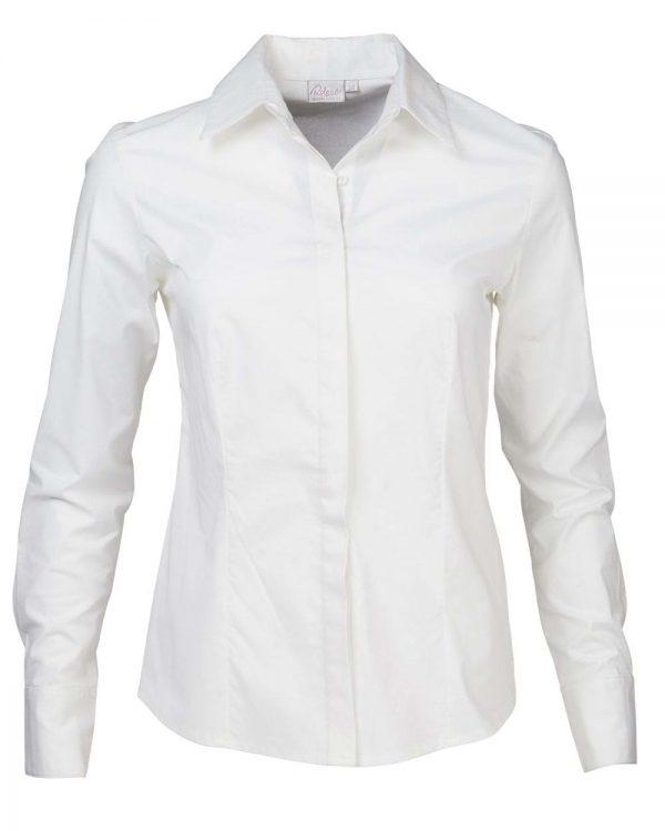 Ladies Savannah Long Sleeve Blouse White