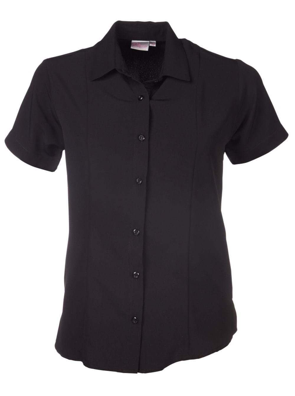 Ladies Zoe Short Sleeve Blouse Black