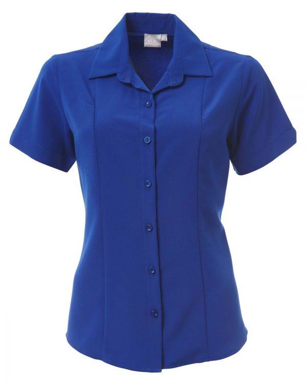 Ladies Zoe Short Sleeve Blouse Sapphire