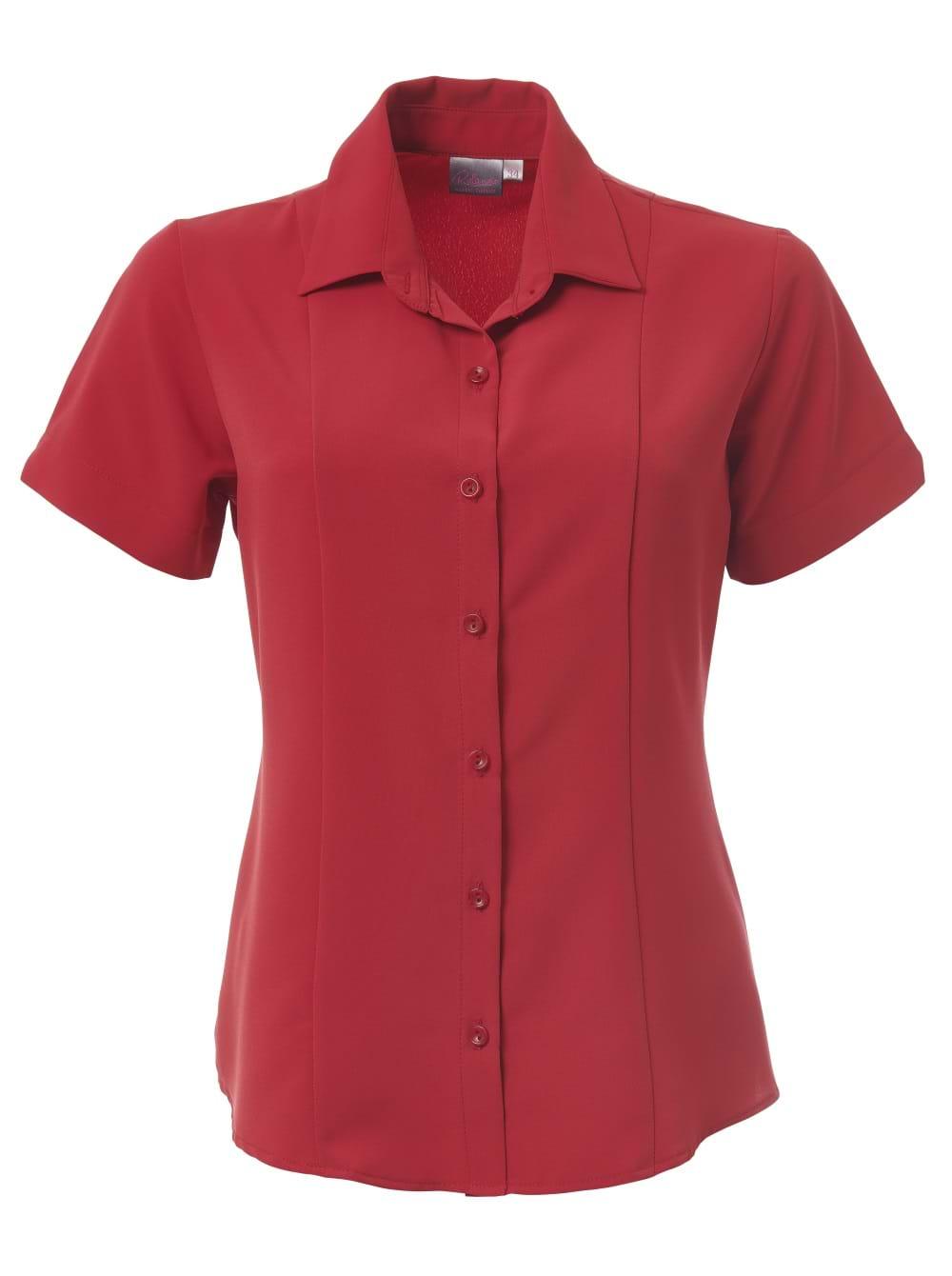 Ladies Zoe Short Sleeve Blouse Scarlet