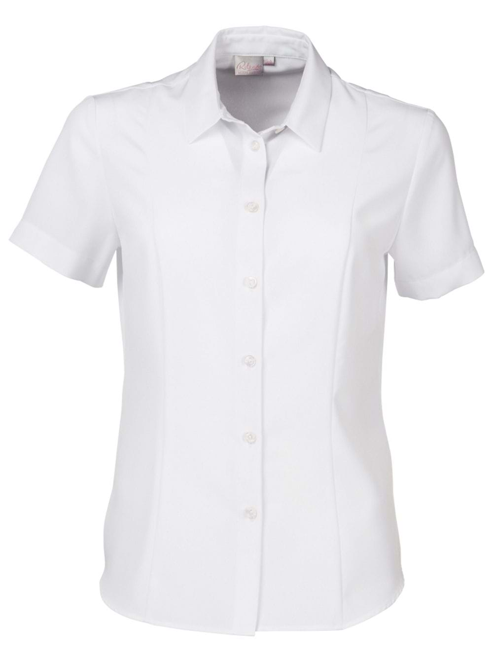Ladies Zoe Short Sleeve Blouse White