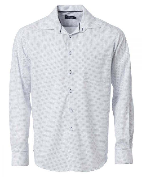 Mens Cullinan Long Sleeve Shirt White