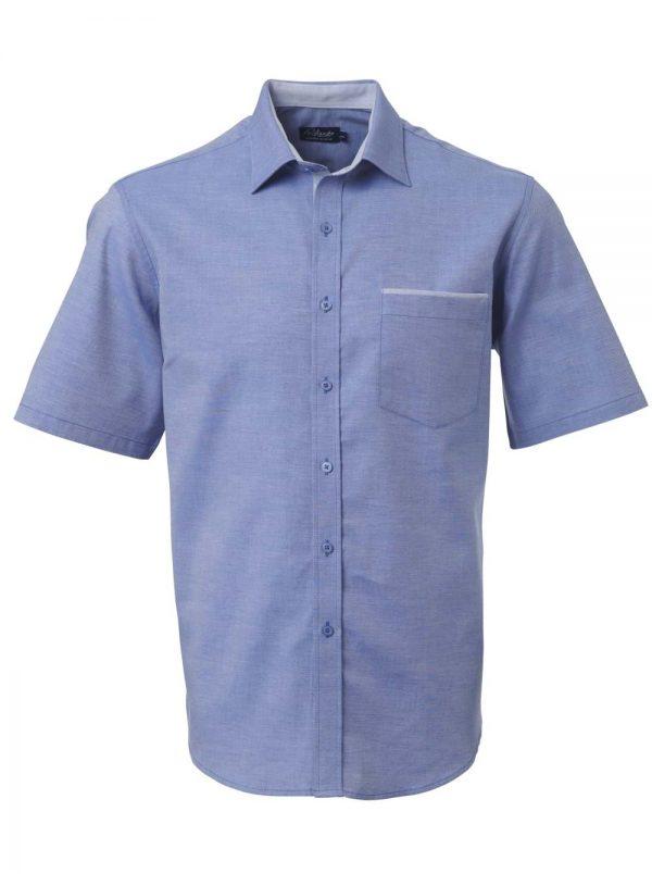 Mens Miller Short Sleeve Shirt French Blue