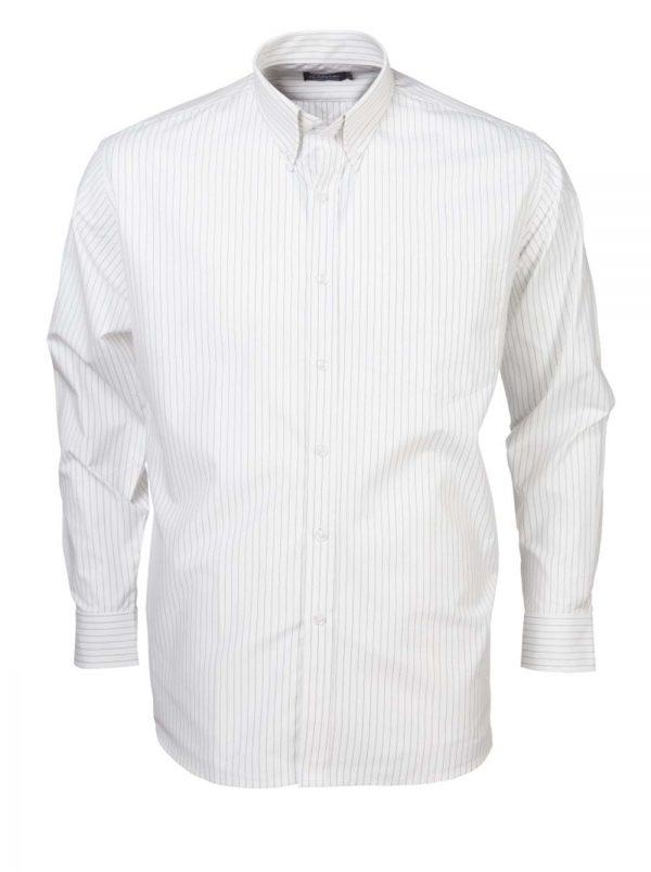 Mens Stripe Long Sleeve Shirt White